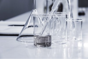 Laboratory equipment all glass beakers and test tubes