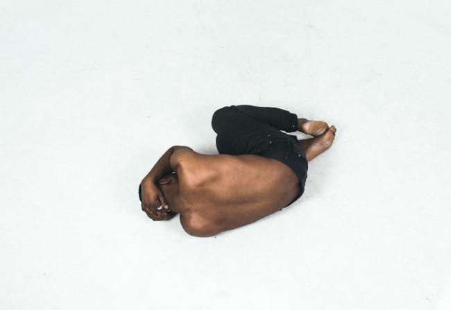 Man on floor in pain
